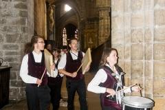DSC_4084 18 aout 2019. Le Bagad Boulvriag à la basilique de Guingamp pour la messe de la Saint-Loup.