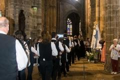 DSC_4085 18 aout 2019. Le Bagad Boulvriag à la basilique de Guingamp pour la messe de la Saint-Loup.