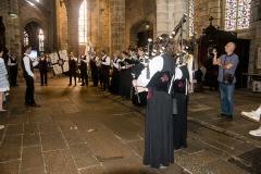 DSC_4107 18 aout 2019. Le Bagad Boulvriag à la basilique de Guingamp pour la messe de la Saint-Loup.