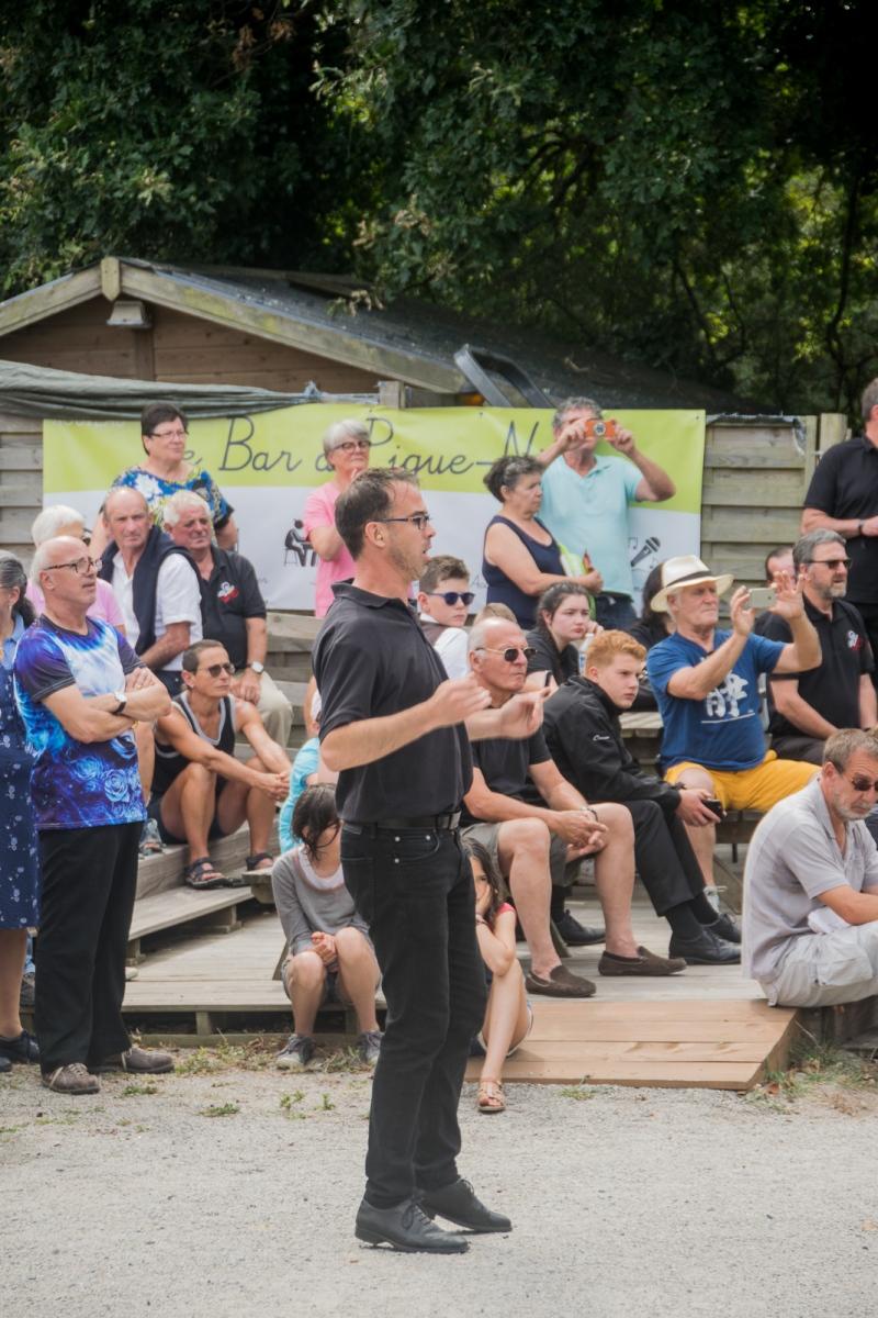 DSC_3493 3 aout 2019 – Le Bagad Boulvriag en répétition publique à Larmor Plage, avant le concours des bagadoù de 1ère catégorie.