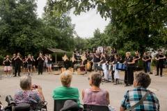 DSC_3492 3 aout 2019 – Le Bagad Boulvriag en répétition publique à Larmor Plage, avant le concours des bagadoù de 1ère catégorie.