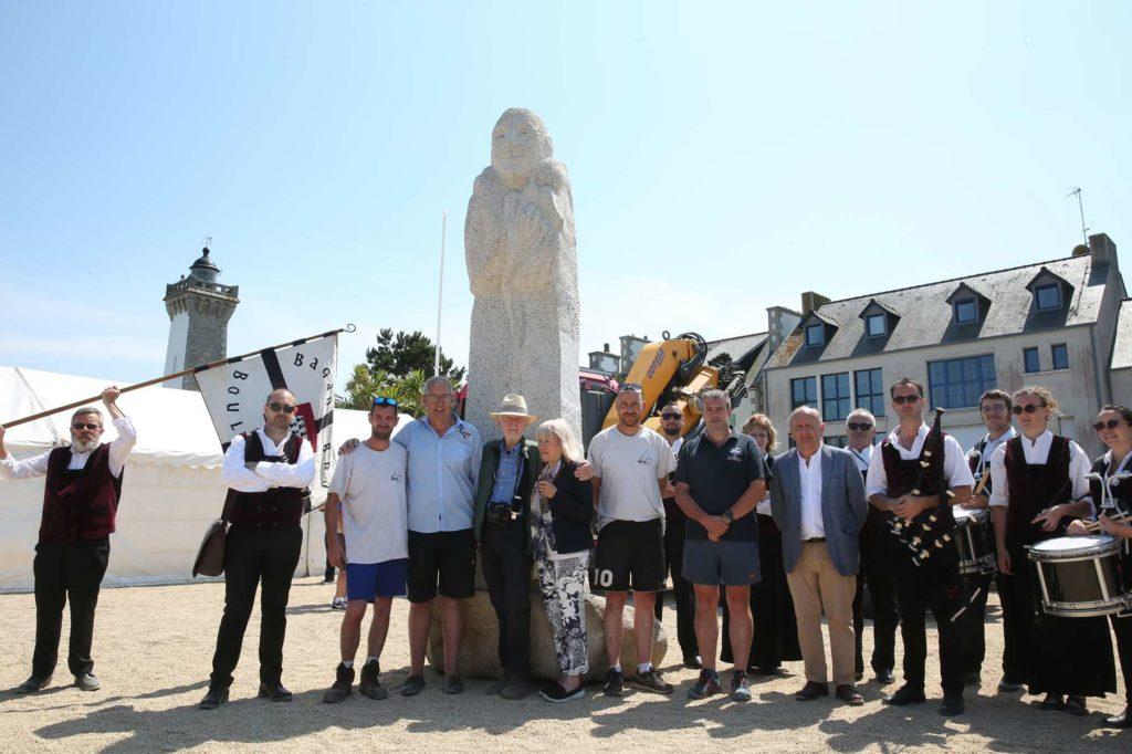 5 juillet 2019 - Le bagad Boulvriag était à Roscoff pour accueillir Saint-Dewi