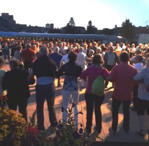 Le fest-noz du pardon de Wourc'h, en juillet 2018
