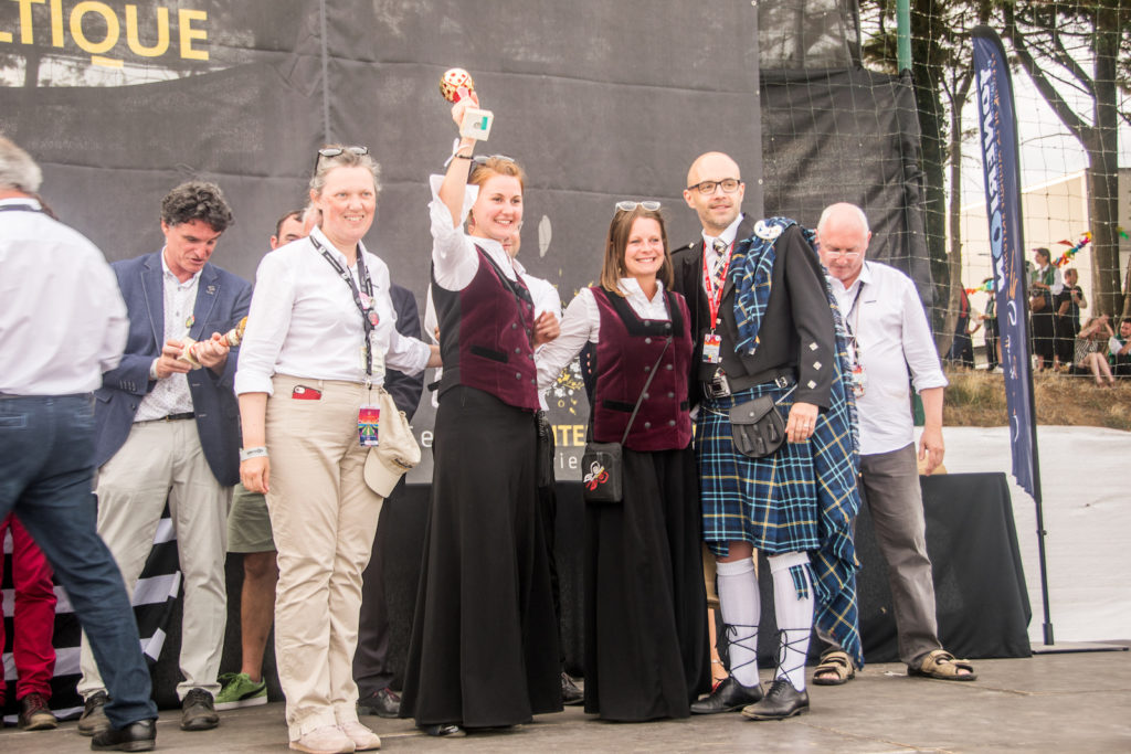 Festival Interceltique de Lorient 2019 - Le Bagad Boulvriag termine en 10e position.